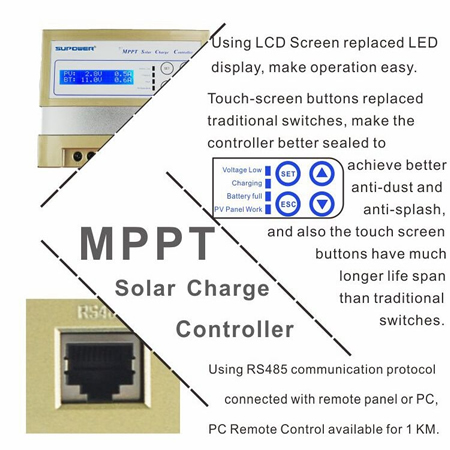 40A MPPT Solar Charge Controller with LCD display